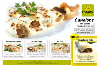 Full range of canelloni Estany
